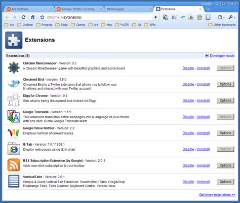 chrome manage extensions hands on extensions give chrome a lift as version 4
