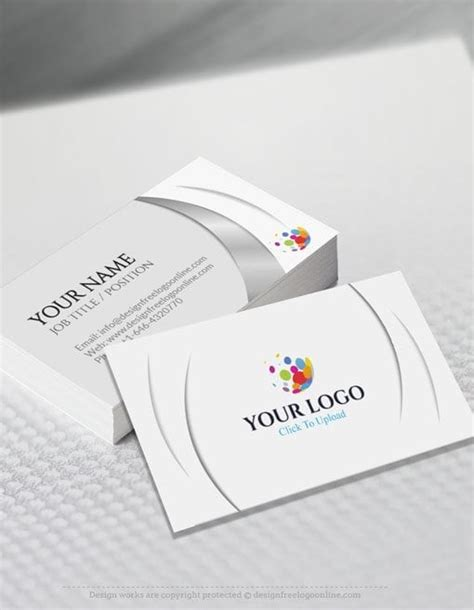 business card template generator free business card maker app 3d wave business card template