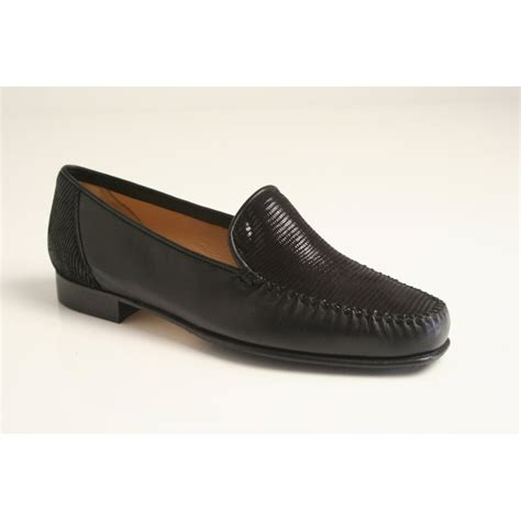 high heeled moccasins hb h b italian moccasin in high grade black leather with