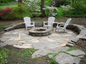 Flagstone Patio With Firepit How To Build A Pit 5 Diy Pit Projects Hirerush