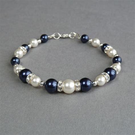 Blue Navy Bracelet navy blue bracelet blue bridesmaids jewelry midnight blue pe