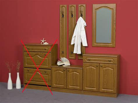 garderobe rustikal garderobe garderobenset 4 teilig eiche rustikal dekor