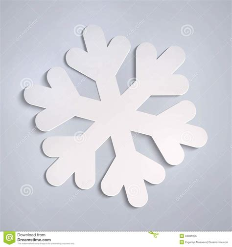 Easy Paper Snowflakes - vector white paper snowflake stock vector illustration