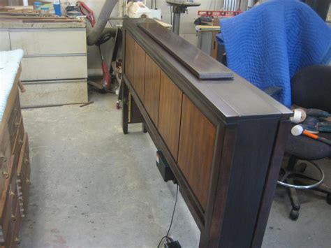 Footboard Tv by Custom Footboard With Tv By Garyk Lumberjocks