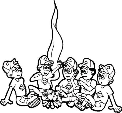 Cub Scout Coloring Pages Flying A Kite Scouts Learn About Boy Scout Coloring Pages