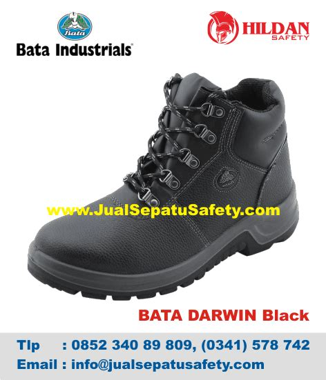 Sepatu Safety Black Hammer jual safety shoes bata darwin 2 hitam black asli jakarta