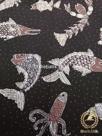 Kain Batik Katun Tulis Motif Ikan jual kain batik tulis warna alam motif ikan coklat tua thebatik co id