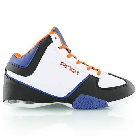 kickz basketball shoes and1 mucho gusto basketball shoes white blue orange