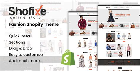 shopify themes masonry shofixe fashion shopify theme download nulled rip