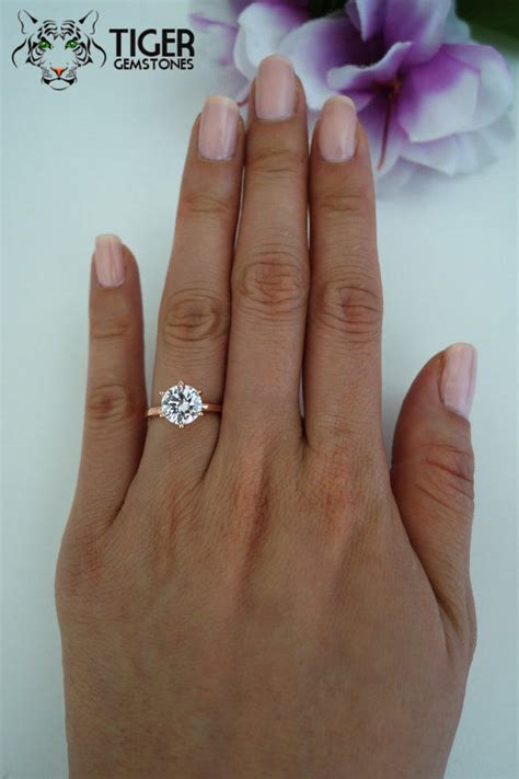 Verra 52205gl 13 Silver Gold 2 carat 6 prong solitaire engagement from tiger gemstones