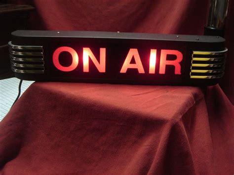radio on air light on air light nbc rca western electric tv radio