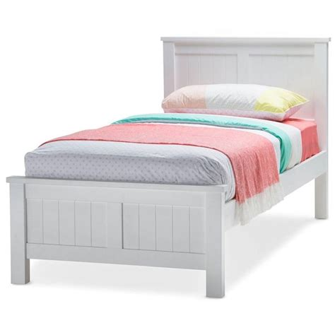 Single Size Bed Frame Snow King Single Size Wooden Bed Frame In White Buy King Single Bed Frame