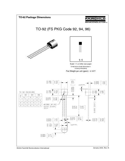 Mpsa92 Mpsa 92 mpsa92 datasheet pdf 881 kb fairchild pobierz z elenota pl