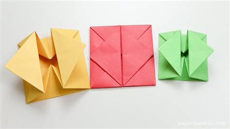 Origami Paper Sizes - origami envelope box paper kawaii