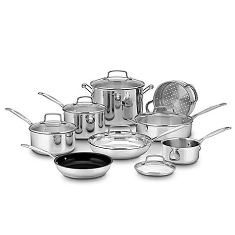 Oxone Classic Cookware Set cuisinart 174 chef s classic stainless steel 14 cookware set bed bath beyond