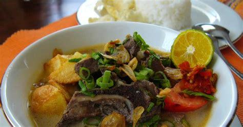 cara membuat soto ayam khas lombok resep soto tangkar khas betawi resep masakan