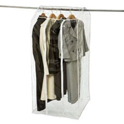 basement clothes storage being organized