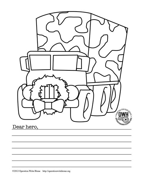 Cards For Soldiers Template by Free Coloring Pages For Operation