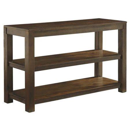 sofa tables at walmart grinlyn sofa table in rustic brown walmart