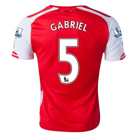 arsenal youth jersey arsenal 15 16 gabriel 5 youth third soccer jersey