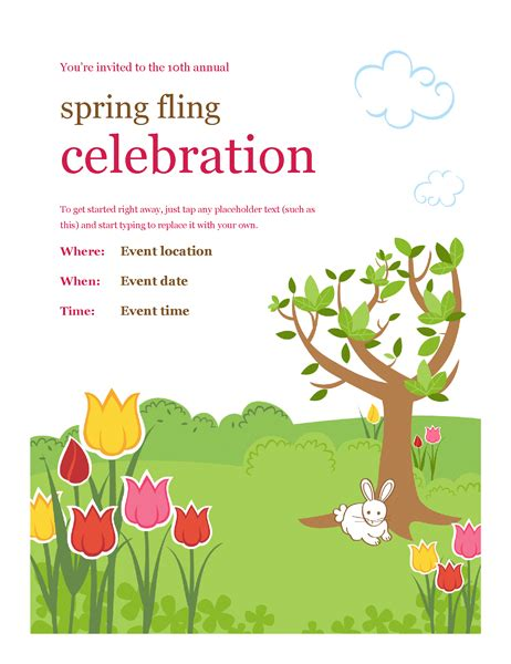 spring festivities flyer office templates