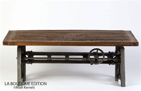 Table De Salon Industrielle 1237 by Table Basse Lepic Bois M 233 Tal Usine Atelier