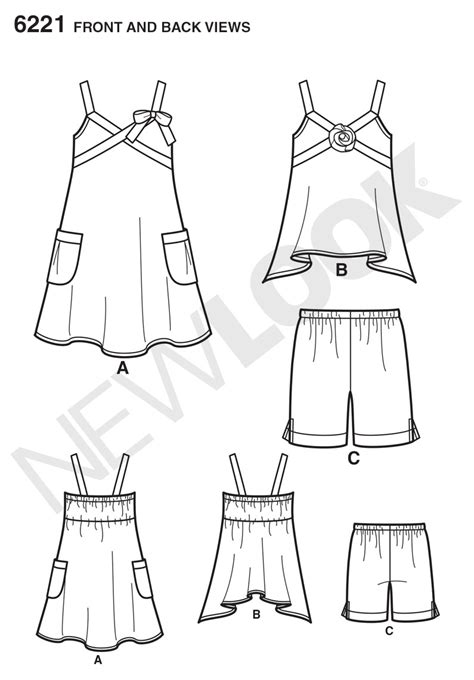 pattern review best of 2013 new look 6221 child s dress top and shorts