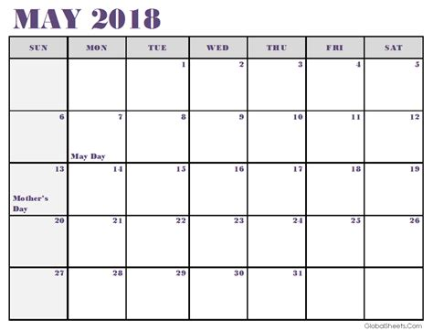 excel calendar 2018 template free may 2018 calendar excel template