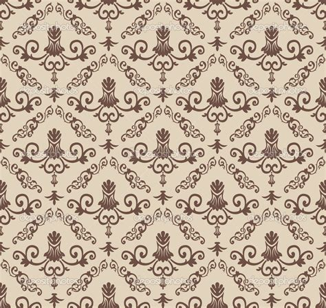 pattern background brown vintage wallpaper seamless pattern vector seamless