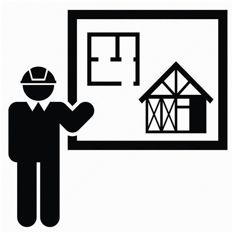 icon design build architecture building construction engineer house