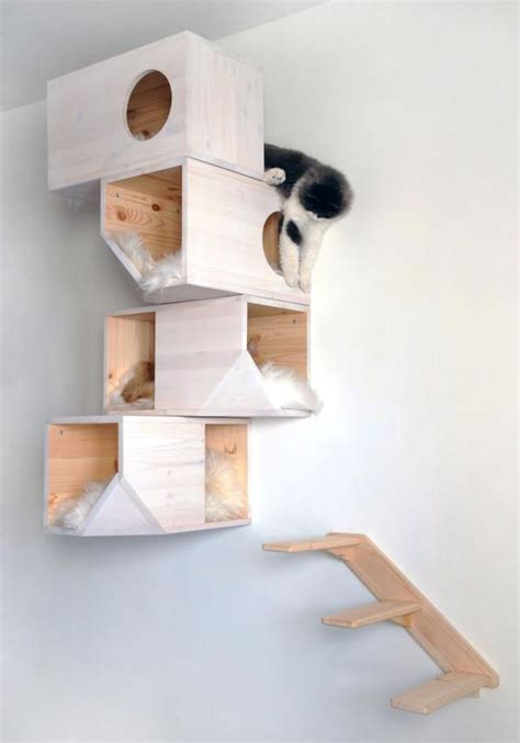 modern cat furniture design ideas wall mounted and heated furniture scratchers catissa wall mounted cat tree