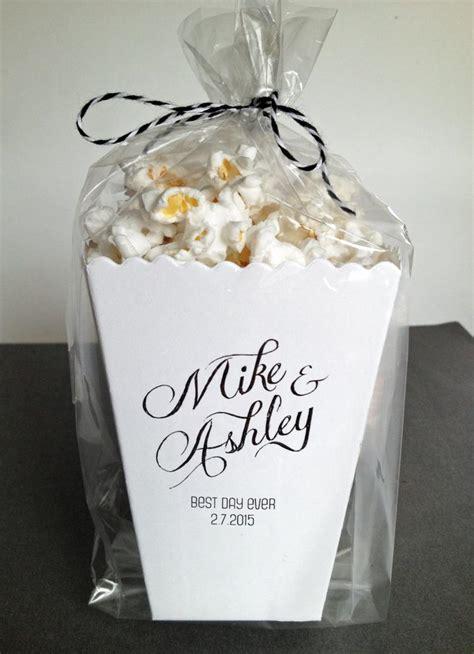 mini popcorn box wedding favor printed matte  ericksondesign