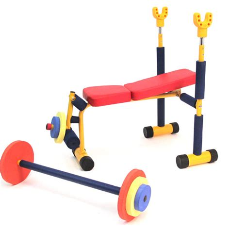 kids workout bench kids weight bench set fun exercise equipment fitness