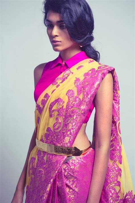 Blouse Fashions Import 2209 Yellow collar style blouses for saree fashion in india threads