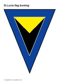 bunting rubber st best 25 st lucia flag ideas on st lucia