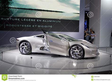 imagenes jaguar deportivo coche deportivo cx 75 del jaguar foto de archivo editorial