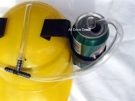 How To Make A Soda Hat Out Of Paper - dual can holding hat 2 drink yellow