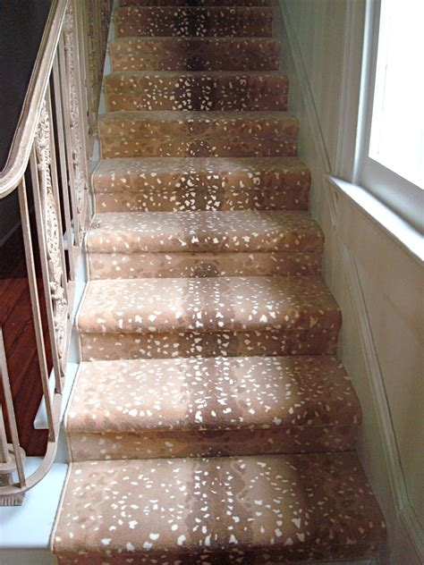 stylish carpet runners  stairs animal print  runners