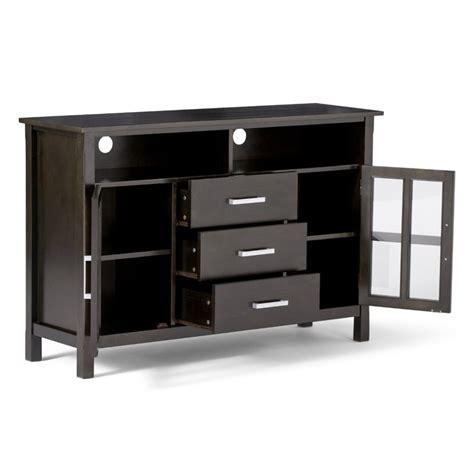 Patio Furniture Kitchener 53 quot tall tv stand in dark walnut brown 3axcridtvs