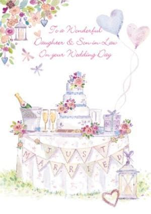 Just Married Congrats Daughter And Son In Law Wedding Card