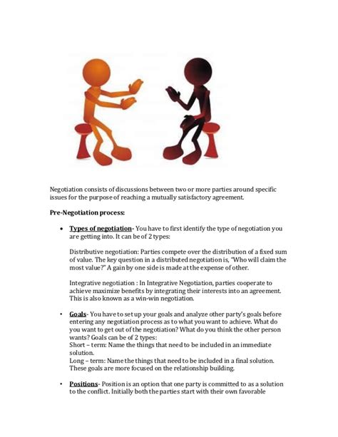Negotiation Contract Template by Negotiations Planning Template