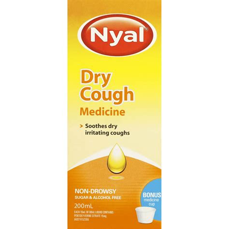 dry couch nyal cough medicine for dry coughs 200ml woolworths