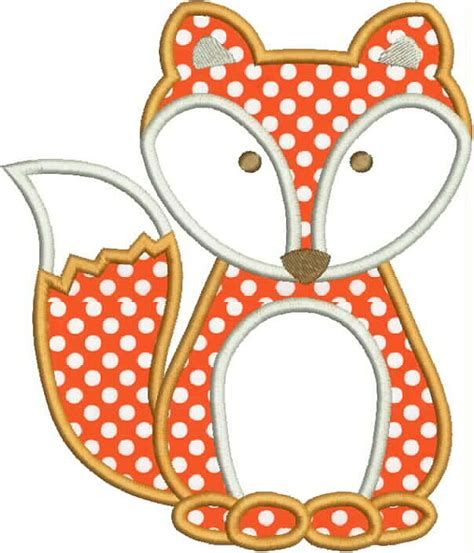 applique design fox applique design