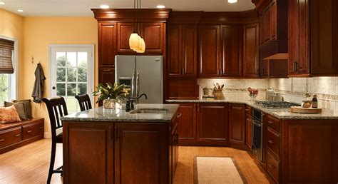 How To Clean Kraftmaid Kitchen Cabinets 4 Unique Ways To Use Cherry Cabinets In Your Kitchen Kraftmaid