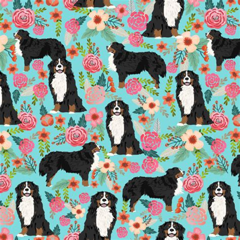 best material for dogs bernese mountain florals fabric breed fabric dogs best bernese
