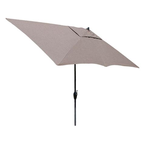 10 Patio Umbrella Hton Bay 10 Ft X 6 Ft Aluminum Solar Patio Umbrella In Cafe Yjauc 171 Rc2 The Home Depot