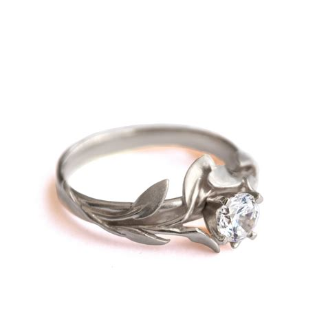 leaves engagement ring no 4 18k white gold by