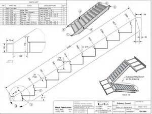 technische zeichnung treppe stair drawings