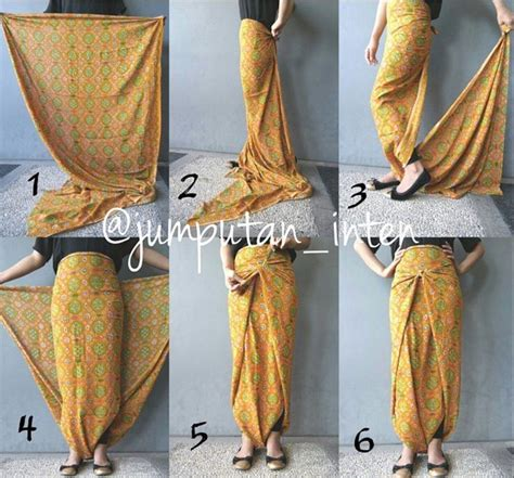 Tutorial Kreasi Kain Batik D Jadiin Rok | tutorial memakai kain batik hanya dengan dililit saja tak
