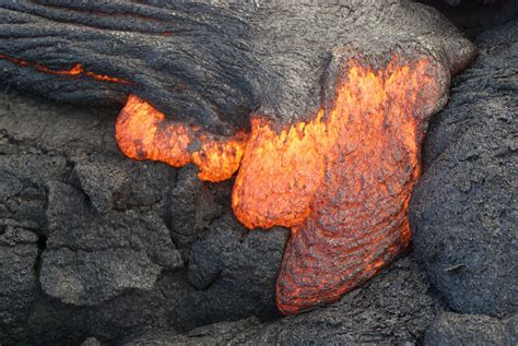 what s in a lava l lava flow in hawaii s volcanoes national park